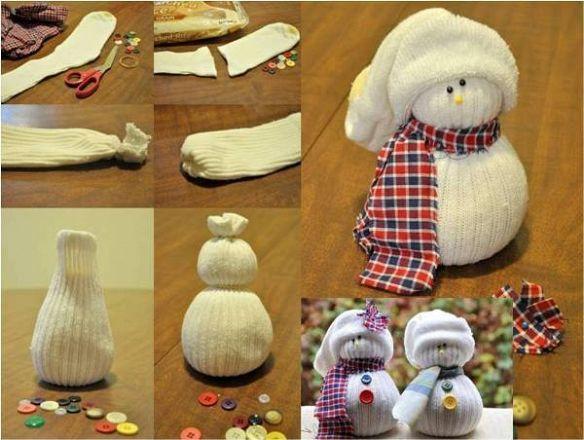 Поделки снеговик в домашних условиях