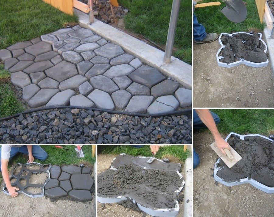 Как сделать из цемента дорожки на даче