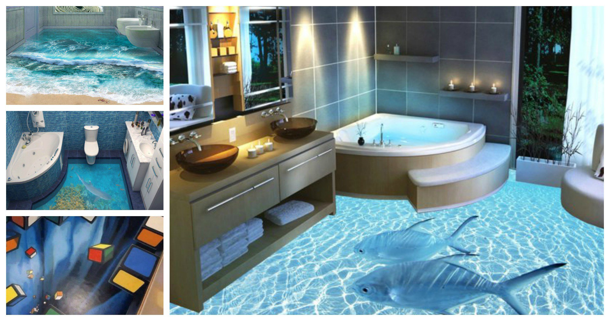 These 3d fool disigns for your bathroom are just amazing for Design your bathroom 3d